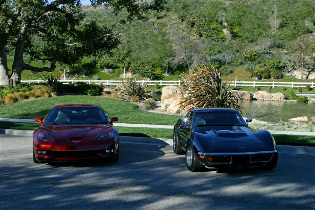 Jerry & Saralyn's 2011 Grand Sport and 1972 Stingray