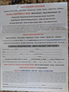 20181202 Brea Holiday Car Show1